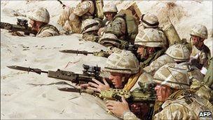 British soldiers training days before the 1991 Gulf War