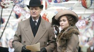 Helena Bonham Carter stars alongside Colin Firth as the future Queen Mother