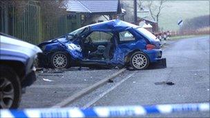 Crashed Peugeot 106