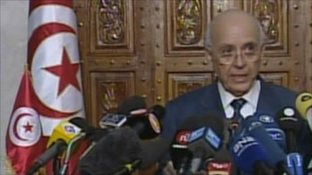 Tunisian Prime Minister Mohammed Ghannouchi