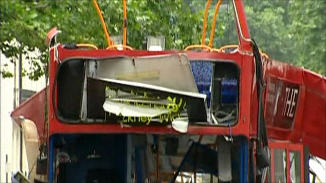 Bus blown up by 7/7 bombing