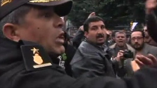 Policeman in Tunis