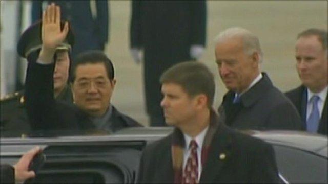 Chinese President Hu Jintao and US Vice President Joe Biden
