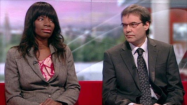 Dentist Dr Uchenna Okoye and anti-fluoridation campaigner Stephen Peckham