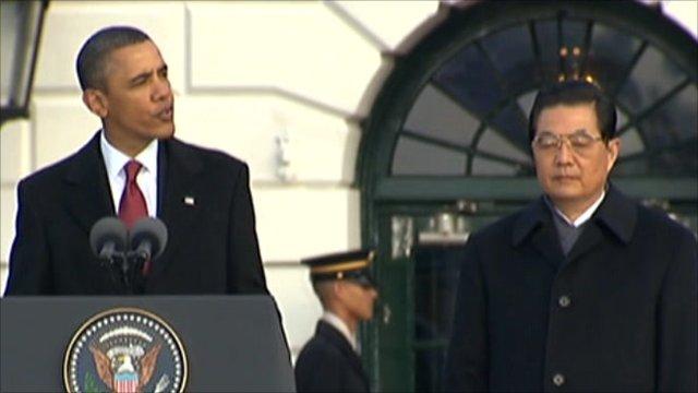 China's President Hu Jintao and US President Barack Obama