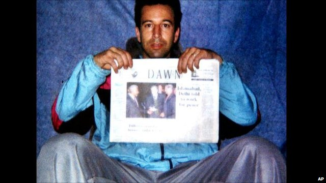 Daniel Pearl in captivity in January 2002