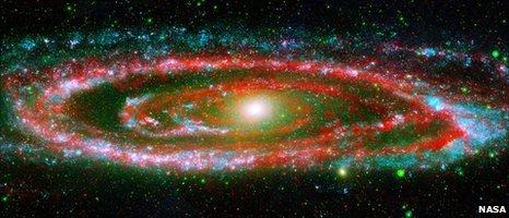 Nasa image of Andromeda galaxy