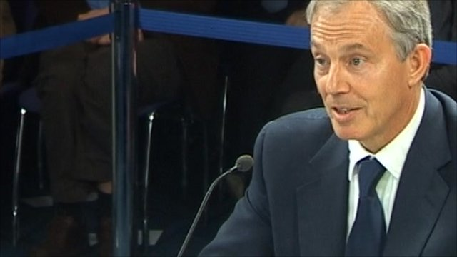 Tony Blair at Chilcot inquiry