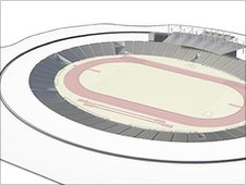 Plans for the 25,000-seat stadium post-Games