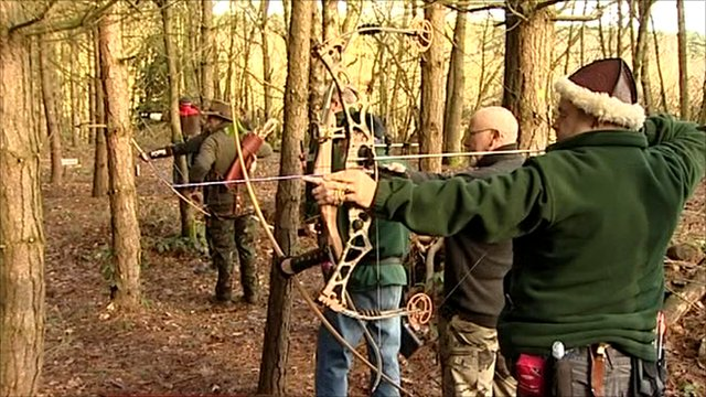 Archers in woodland