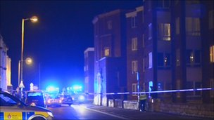 Folkestone stabbing scene