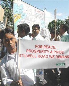 Demonstration in support of the reconstruction of the Stilwell Road