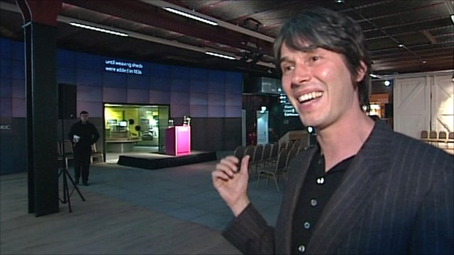 Professor Brian Cox in the Museum of Science and Industry's Revolution gallery