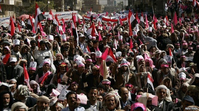 Anti-government rally in Yemen's capital Sanaa, 27 January 2011