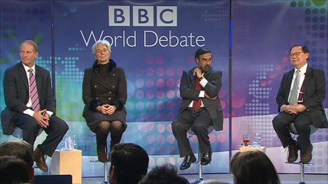 BBC World Debate panel