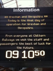 Best wishes for the final Wrexham, Shropshire and Marylebone service