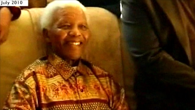 Nelson Mandela, pictured last year