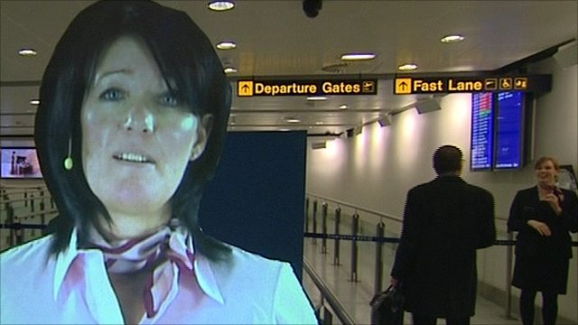 Hologram of Manchester Airport's Julie Capper