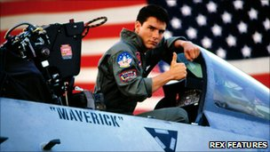 US actor Tom Cruise in Top Gun