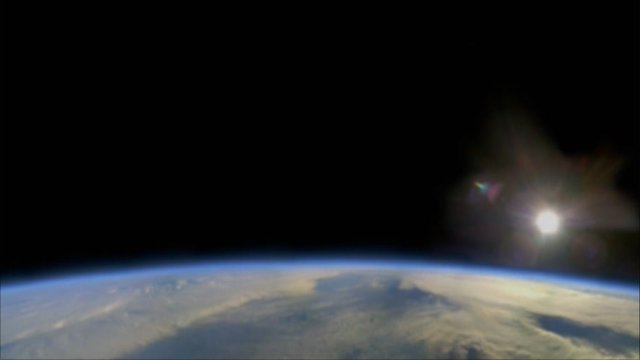 View of Earth from stratosphere