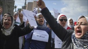 Protesters in Egypt, 31 Jan
