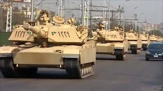 Tanks on the roads of Egypt