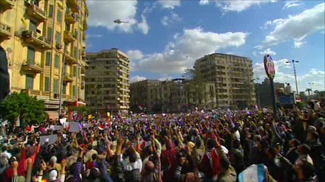Tahrir Square crowds