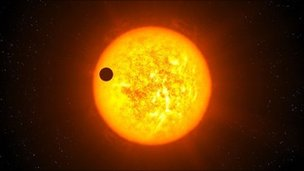 Artist's conception of transiting exoplanet