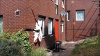 Exterior of flats at the 7/7 terrorists' bomb factory in Alexandra Grove, Leeds
