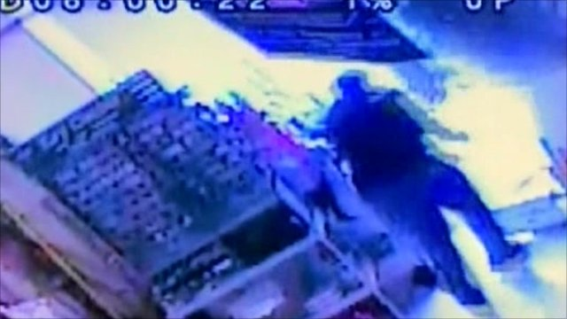 Man runs for life as roof collapses