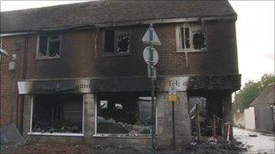 Fire in Lenham on 28 October
