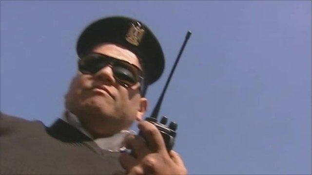 Pro-Mubarak policeman