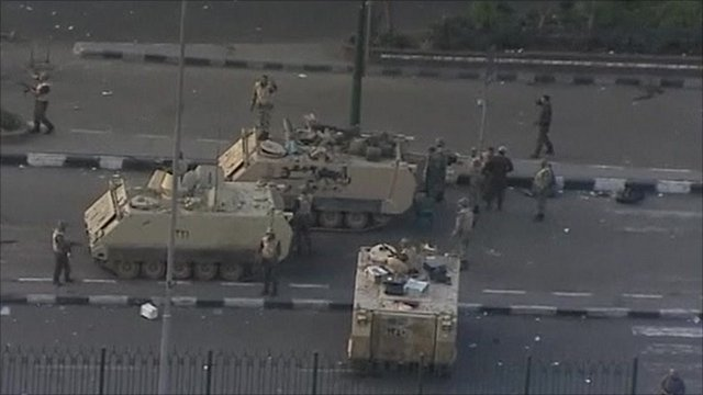 Egyptian military vehicles