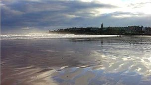 West Sands in St Andrews