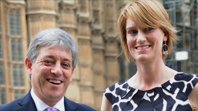 Speaker of the Commons John Bercow with his wife Sally