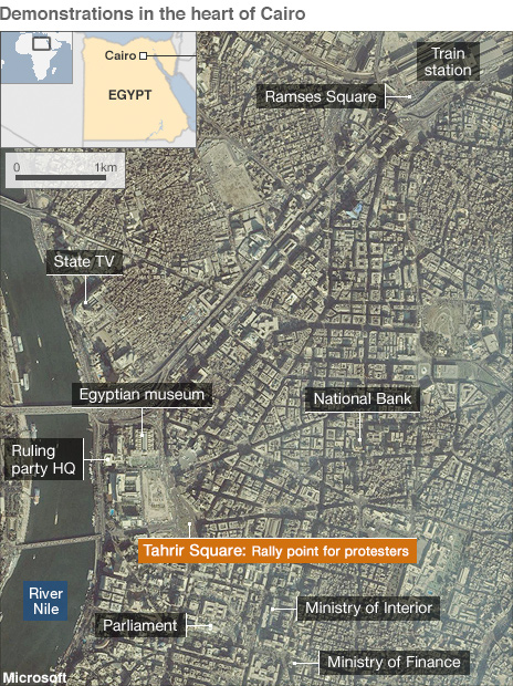 Map of central Cairo