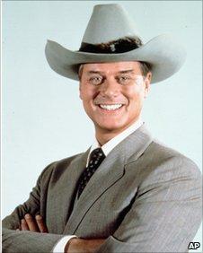 Larry Hagman as JR Ewing