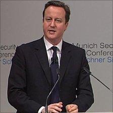David Cameron in Munich