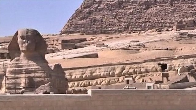The sphinx and pyramids of Egypt