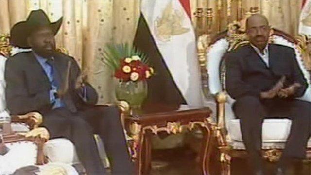 South Sudan's leader Salva Kiir and Sudanese President Omar al-Bashir