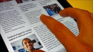 Newspaper on Apple iPad