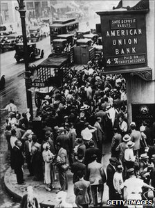 Run on the American Union Bank in New York in 1931