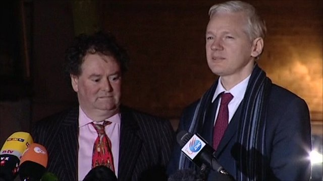 Mark Stephens and Julian Assange