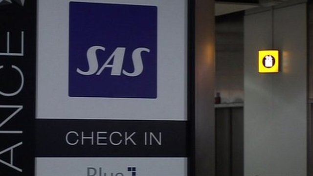 SAS check in sign