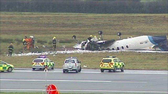 Crash site at Cork Airport