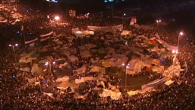 Proteters' camp in Tahrir Square, Cairo