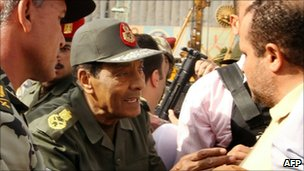 Field Marshal Mohamad Hussain Tantawi visiting Tahrir Square, Cairo (30 January 2011)