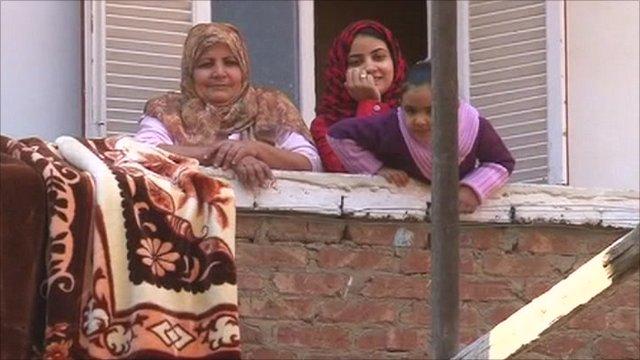 Women in Mubarak's home town of Kafr El-Meselha