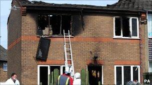 Buxton house fire