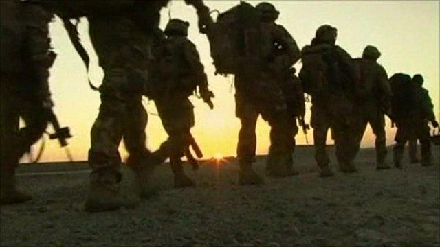 An army unit on patrol